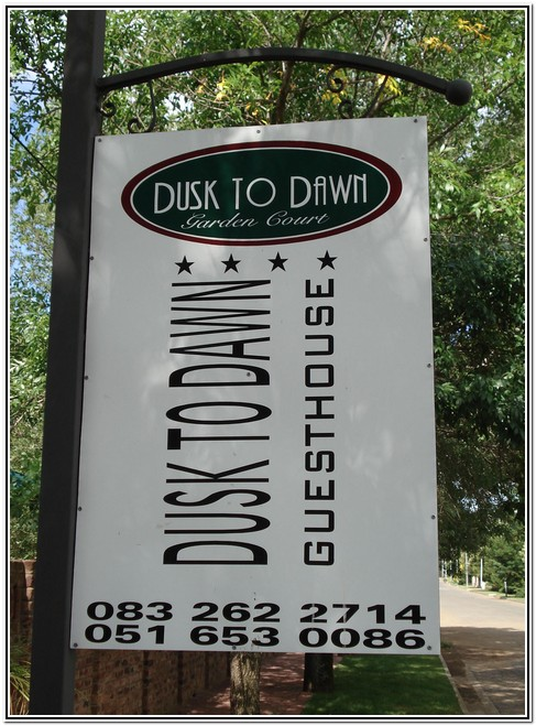 Dusk to Dawn Guesthouse Burgersdorp 083 262-2714 - 051 653-0086